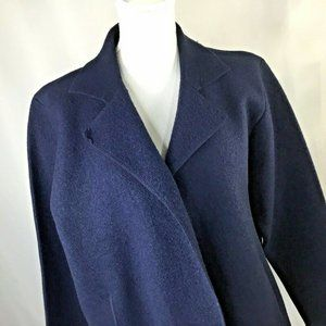 Eileen Fisher~Boiled Wool Blazer~Open Front~Boxy~
